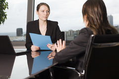 Job interview going bad Royalty Free Stock Photo