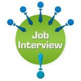 Job Interview Human Icons Circular Arkivbild