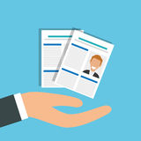 Job interview icon design Royalty Free Stock Photography