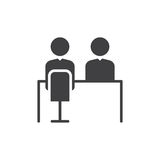 Job interview icon vector, filled flat sign, solid pictogram isolated on white. Symbol, logo illustration. Royalty Free Stock Photography