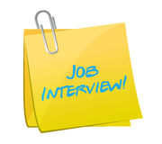 Job interview post illustration design Royalty Free Stock Photo