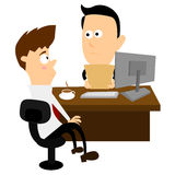 Job Interview. A job interview in progress Royalty Free Stock Photos