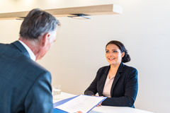 Job interview stock images