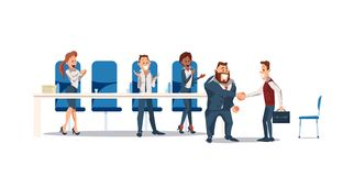 Job Interview and Recruiting. Vector Illustration. vector illustration