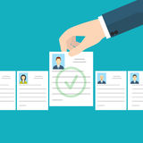 Job interview. Recruitment Hand. Vector illustration. Job interview. Recruitment Hand. Vector Stock Images