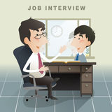 Job interview scene in flat design Royalty Free Stock Photography