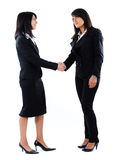 Job interview, shake hands. Two women Royalty Free Stock Images