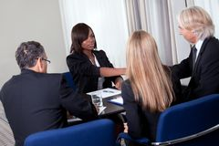 Job interview shaking hands Stock Images