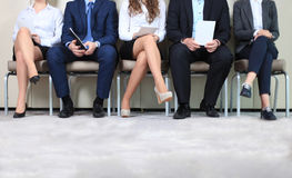 Job interview. Stressful people waiting for job interview Stock Images