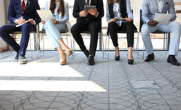 Job interview. Stressful people waiting for job interview Royalty Free Stock Photos