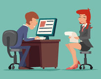 Job Interview Task Conversation Businessman at Stock Photo