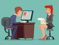 Job Interview Task Conversation Businessman en Foto de archivo