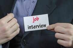 Job interview text concept Stock Photos