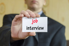 Job interview text concept Royalty Free Stock Images