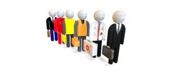 Job Interview, trabalhadores, executivos Peritos e consultantes Imagem de Stock Royalty Free