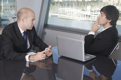 Job interview two businessmen Stock Photo