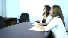 Job interview stock footage