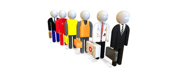 Job Interview, Workers, Business People. Experts and Consultants Royalty Free Stock Image