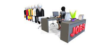 Job Interview, Workers, Business People. Experts and Consultants Royalty Free Stock Photography