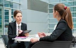 Job interview. Young business women job interview Stock Photos