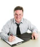 Job Interviewer amichevole fotografie stock libere da diritti