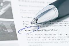 Job-Jagd lizenzfreie stockfotos