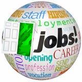 Job-Karriere-Tür-offene neue Weltarbeits-Gelegenheiten Stockbild