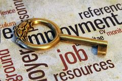Job and key concept Royalty Free Stock Photo