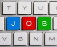 Job On Keyboard Immagine Stock Libera da Diritti