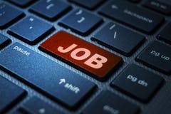 Job keyword on keyboard. Job keyword concept on computer keyboard technology background macro shot stock images