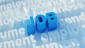 Job keywords. Finding new job keywords with soft focus Stock Images