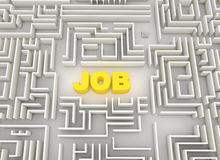 Job labyrinth. Made in 3d Stock Photos