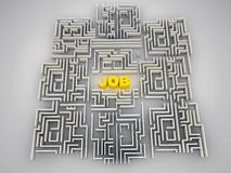 Job labyrinth. Made in 3d Royalty Free Stock Photo