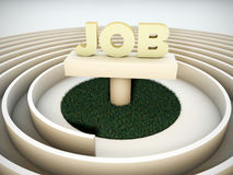 Job labyrinth. Isolated on white background Stock Images