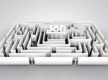 Job labyrinth. Isolated on white background Royalty Free Stock Image