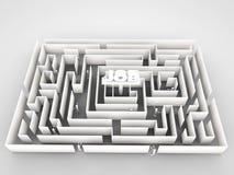 Job labyrinth. Isolated on white background Stock Image