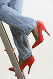 job ladder Royalty Free Stock Images