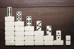 Job ladder concept domino pieces forming stair Royalty Free Stock Photo