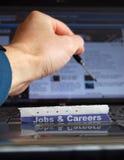 Job in linea immagine stock
