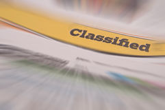 Job Listings Classified Ad finance. Classified Ad, finance money listings royalty free stock image