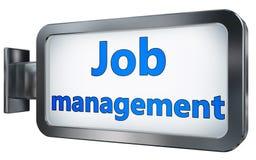 Job management on billboard. Job management wall light box billboard background , isolated on white Royalty Free Stock Image
