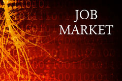 Job Market Abstract. Background in Red and Black Stock Images