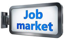 Job market on billboard. Job market wall light box billboard background , isolated on white Royalty Free Stock Image