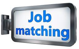 Job matching on billboard. Job matching wall light box billboard background , isolated on white Stock Photos