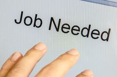 Job Needed Stock Image