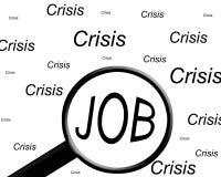Job nella crisi Fotografia Stock