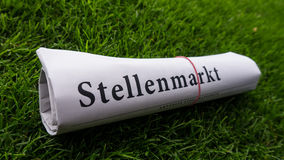 Job newspaper (stellenmarkt ) german Stock Photos