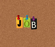 Job notice concept. Notice concept for your business Stock Photography