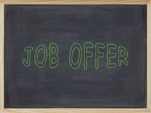 Job Offer-Fleisch geschrieben auf eine Tafel Lizenzfreies Stockbild