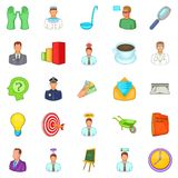 Job offer icons set, cartoon style Stock Photo